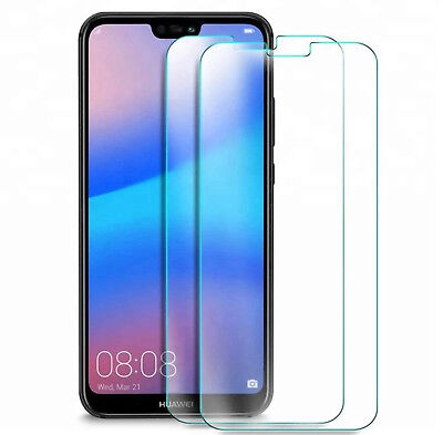 2x Handy Schutzfolie Displaysfolie Displayglas Tempered Glass 9H Huawei P20 Lite