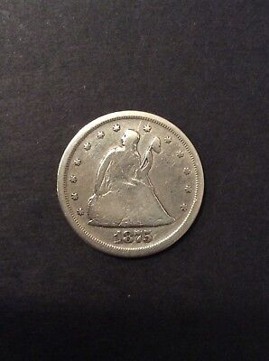 1875-S Twenty Cent Coin 20¢- G/VG see pics and description!!