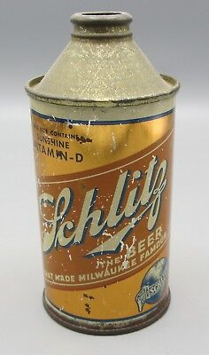 Schlitz Beer Sunshine Vitamin-D Cone Top Can - Milwaukee, WI