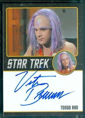 Star Trek Original Series 50th Anniversary Victor Brandt as Tongo Red Auto Card