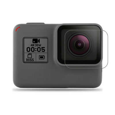 For GoPro Hero 6 5 Tempered Film+HD Film Black Clear Glass +Lens Protector Kit