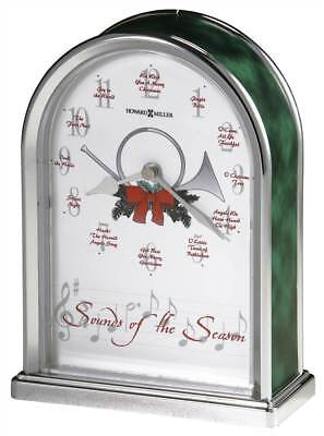 Sounds of the Season Table Top Clock w Holiday Melodies [ID 14239]