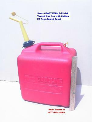 CRAFTSMAN P500 5.25 Gal Gas Can With Chilton Angled Spout Nice HTF