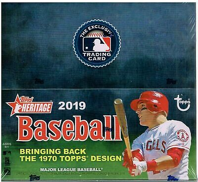2019 Topps Heritage Baseball 24 Pack Box FACTORY SEALED