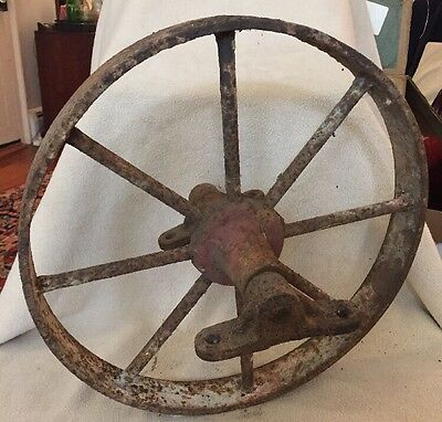 "Antique Farm Barn Wagon Wheel-8 Spoke14"" Wheel Barrow Wheel Good Condition"
