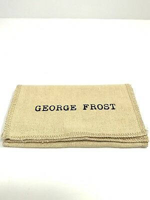 GEORGE FROST Lulu Canvas Jewelry Bag/Magnetic Case for Sunglasses/Necklace