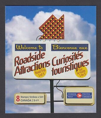 CANADA BOOKLET BK408 8 x 54c ROADSIDE ATTRACTIONS - 1