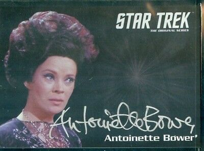Star Trek Original Series 50th Anniversary Antoinette Bower as Sylvia Auto Card