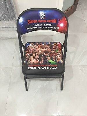 WWE Super Show-down, MCG, Melbourne, Australia, Ringside chair, Unopened