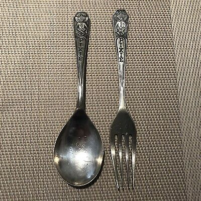 Pitcher Silver Plated Vintage Pixie Spoon and Fork