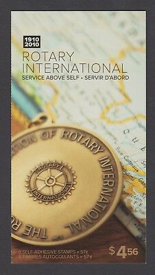 CANADA BOOKLET BK431 8 x 57c ROTARY INTERNATIONAL