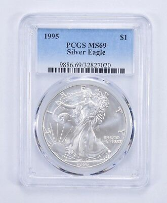 1995 American Silver Eagle MS-69 1 Troy Oz PCGS Graded *799