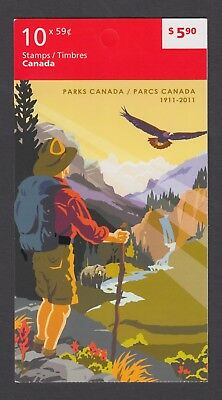 CANADA BOOKLET BK455 10 x 59c PARKS CANADA 1911 - 2011