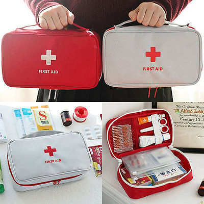 Travel First Aid Kit Bag Home Emergency Medical Survival Rescue Box Case Boxes