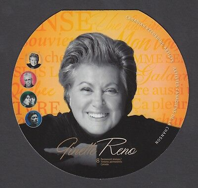 CANADA BOOKLET BK462 8 x 90c CANADIAN RECORDING ARTISTS - GINETTE RENO