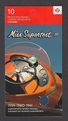 CANADA BOOKLET BK465 10 x 90c MISS SUPERTEST III
