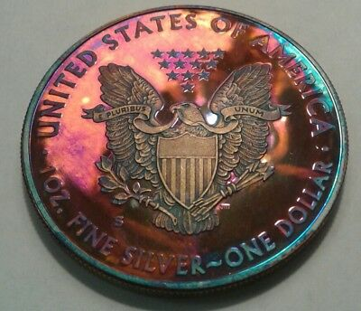 2012 S Proof Silver Eagle With Beautiful Toning,TONED