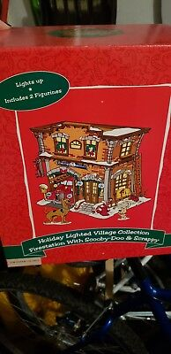warner bros lighted village collection fire station with scooby doo and scrappy