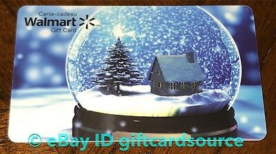 "Walmart Canada 2019 Gift Card ""snow Globe"" No Value Collectible New"