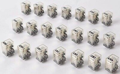Lot of 21 Omron Automation MY4 24VDC 5A 240VAC 14-PIN Relay Module Units