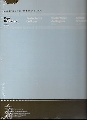 """Creative Memories 12""""X 12"""" (True Size) Page Protectors 15 Sheets Per Package NEW"""