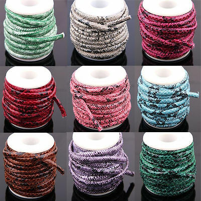 1m 5m Wholesale 6mm Faux Leather String Jewelry Making Bracelet DIY Thread Cord