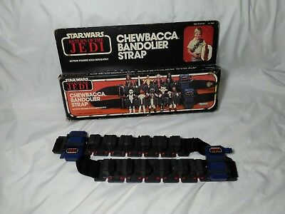 Vintage Star Wars Chewbacca Bandolier Strap in box Kenner 1983 Action Figure