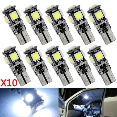 10*T10 LED Bulb Canbus Error Free 5SMD Auto Car Side Wedge Light Parking Lamp AU