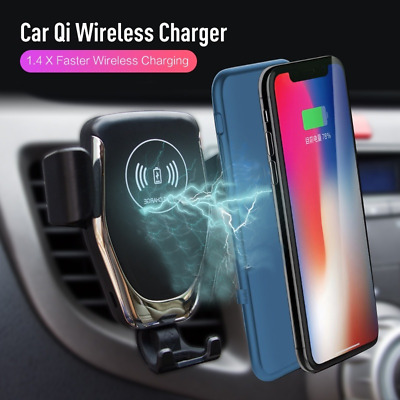 10W-15W Qi Wireless Auto Clamping QC3.0 Fast Car Charger Air Vent Mount Holder