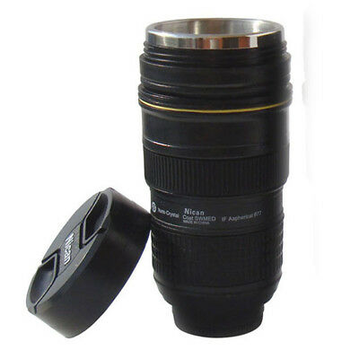 24-70mm AF-S Nikon Camera Lens Zoom Thermos Mug/Cup Coffee/Tea Stainless Cup