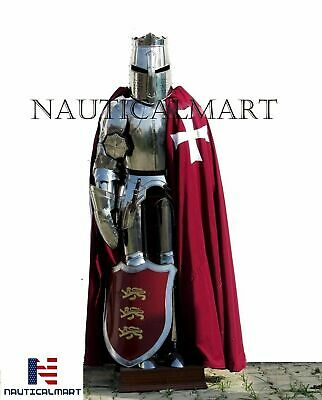 Halloween Templar Wearable Medieval Knight Combat Armor Full Suit With Stand 6 F