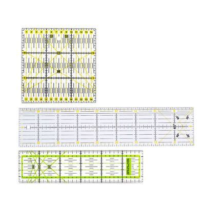 3pcs Clear Quilting Yardstick Rulers Patchwork Sewing Ruler Cutting Tool Set