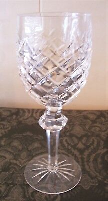 "Waterford Irish crystal POWERSCOURT claret/red wine glass 7 1/8"" Mint! 8 avail"