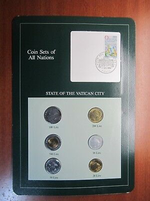 Coin Sets of All Nations Vatican City John Paul II 6 Coin Set