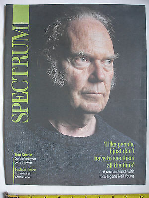 The Scotland Sunday Spectrum Magazine-30/09/2012-NEIL YOUNG cover. Wool Week.