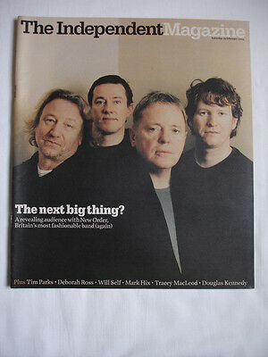 Used The Independent Magazine 19/02/2005-New Order Cover.stephen Jones Milliner.