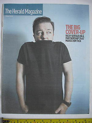 The Herald Magazine-10th April 2010-RICKY GERVAIS cover. Grace Kelly style.
