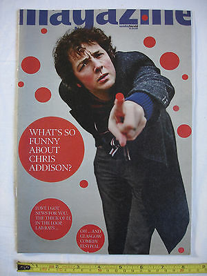 Sunday Herald Mag 1st March 2009.Chris Addison (The Thick of it) Lorraine Kelly.