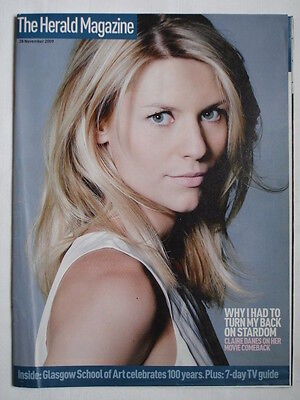 THE HERALD MAGAZINE 28/11/2009 CLAIRE DANES COVER-(some missing pages).