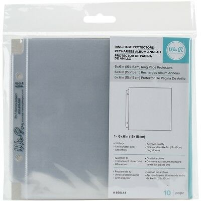 """We R Ring Photo Sleeves 6""""x6"""" 10/pkg-full Page"""