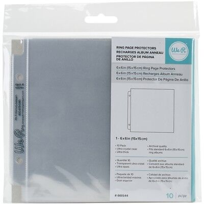 "We R Ring Photo Sleeves 6""x6"" 10/pkg-full Page"