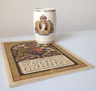 The Coronation of Her Majesty Queen Elizabeth II: souvenir programme and glass