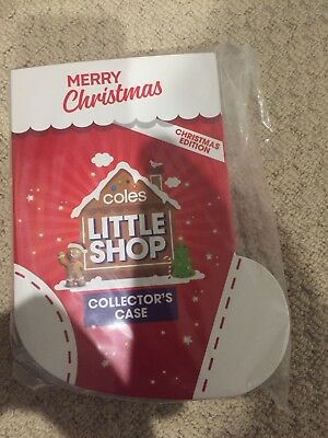 Coles Little Shop Christmas Edition Collectors Case Case Only - New & Sealed