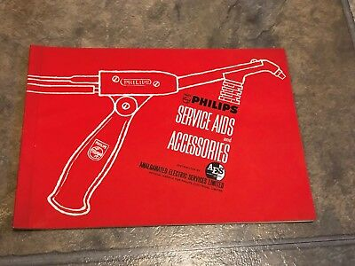 1960's philips  service aids & accessories electirical component kits Brochure