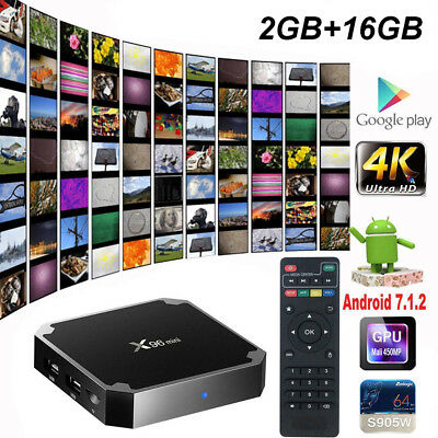 X96 MINI Android 7.1 Smart TV Box S905W 4K Quad Core H.265 HD Medien 2GB+16GB