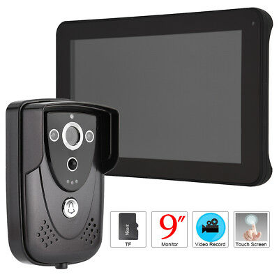 "9"" Wired DVR Touch Screen Video Door Phone PIR Record Intercom Camera SY906FCP11"