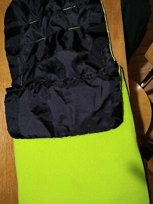 Universal Sleeping Bag, Liner, Cosy Toes Apple Green Ideal For Phil & Teds.