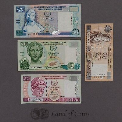 CYPRUS: Set of 4 Cypriot Pound Banknotes.