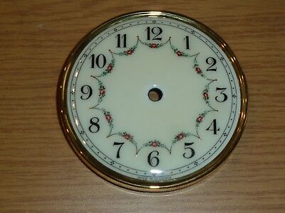 Vintage enamel anniversary clock dial for spares - 104mm across