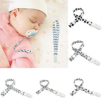 6B66 Baby Kids Boy Girl Pacifier Soother Nipple Chain Clip Safety Funny Multi
